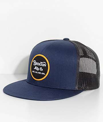 Brixton Wheeler Navy & Charcoal Trucker Hat