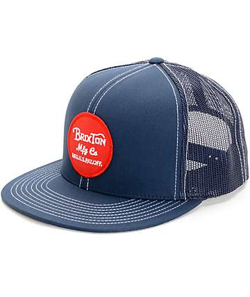 Brixton Wheeler Navy & Red Trucker Hat