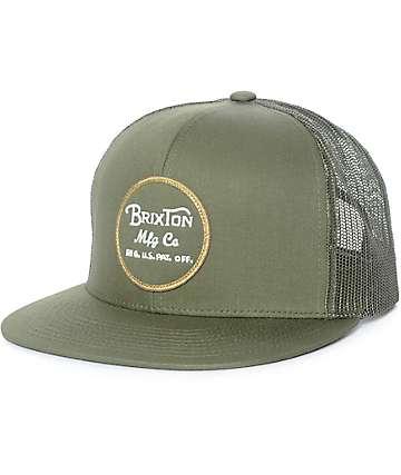Brixton Wheeler Olive Trucker Hat