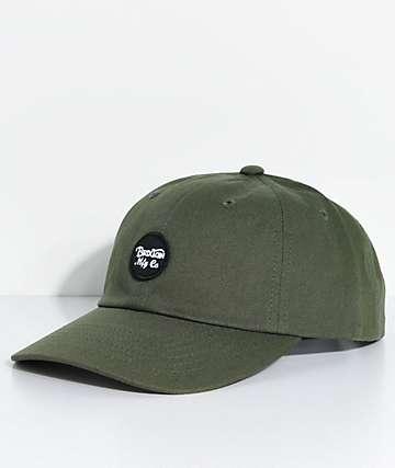Brixton Wheeler gorra béisbol en verde olivo