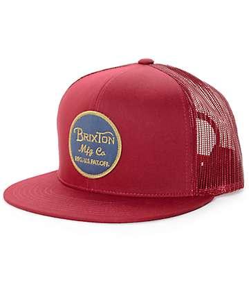 Brixton Wheeler gorra trucker en borgoña