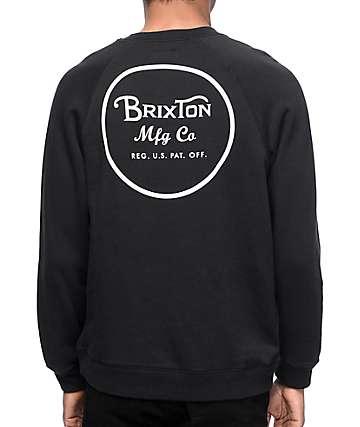Brixton Wheeler sudadera negra