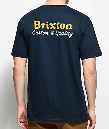 Brixton Wilkin Navy T-Shirt