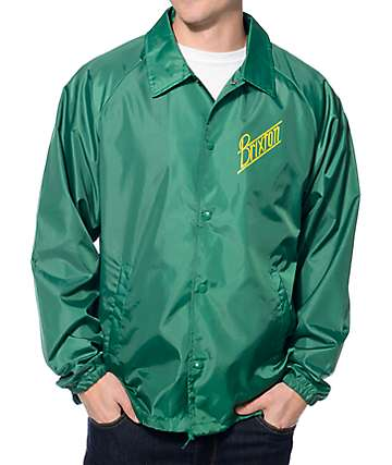 Brixton Wilson Green & Yellow Coach Jacket