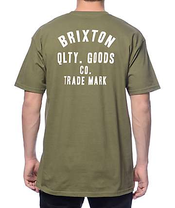 Brixton Woodburn Olive T-Shirt
