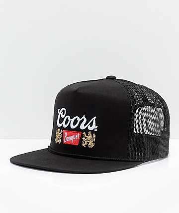 Brixton X Coors Signature Black Snapback Hat