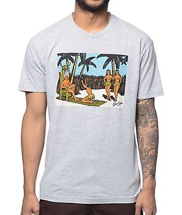 Bro Style Hula Girl II Grey T-Shirt