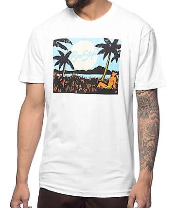 Bro Style Hula Girl White T-Shirt