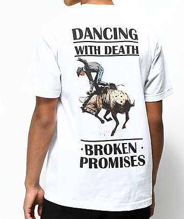 Broken Promises Dancing With Death White T-Shirt