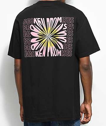 Broken Promises Dandelion camiseta negra