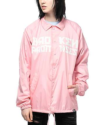 Broken Promises Fear Nothing Pink Coaches Jacket