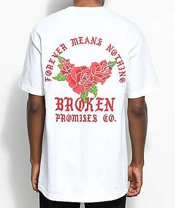 Broken Promises Forever Means Nothing camiseta blanca