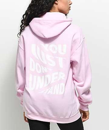 Broken Promises Misunderstood Pink Hoodie