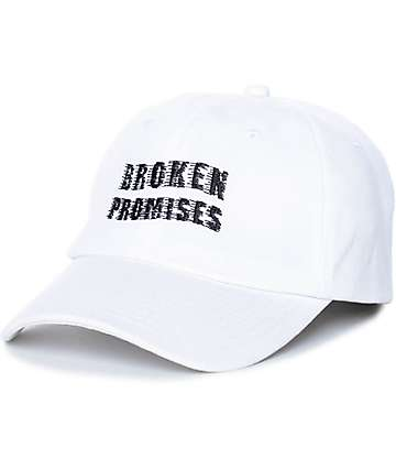 Broken Promises Scrape White Strapback Hat