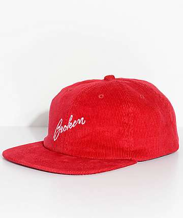 Broken Promises Sign Red Cord Strapback Hat