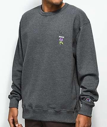 Broken Promises Thornless Granite Crew Neck Sweatshirt