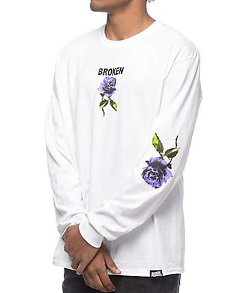 Broken Promises Thornless White Long Sleeve T-Shirt
