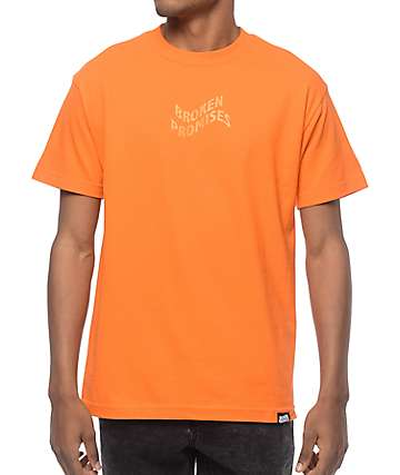 Broken Promises Vortex camiseta en color naranja