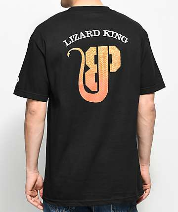 Brooklyn Projects X Lizard King Logo camiseta negra
