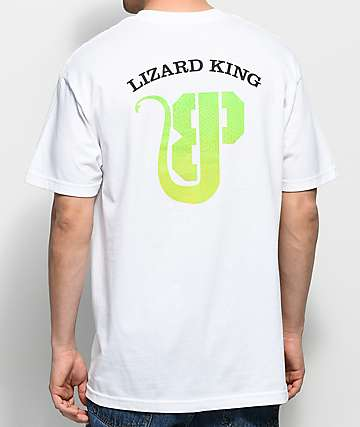 Brooklyn Projects x Lizard King Logo camiseta blanca