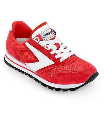 Brooks Chariot Red & White Womens Shoes