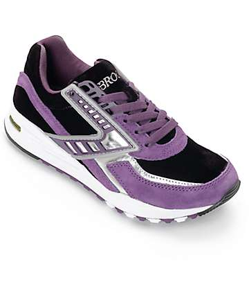 Brooks Regent Imperial Purple & Silver Chrome Shoes