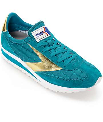Brooks Vanguard Imperial Deep Lake & Gold Womens Shoes