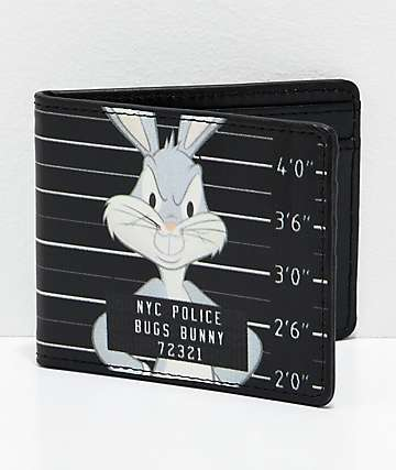 Buckle-Down Bugz Mug Shot cartera plegable en negro