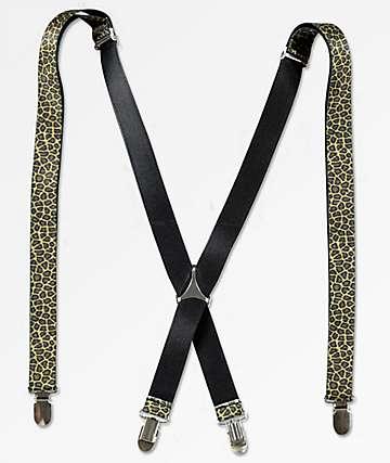 Buckle Down Leopard Suspenders