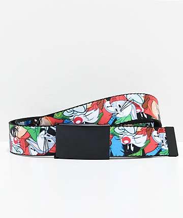 Buckle Down Looney Toons Hip Hop Collage Web Belt