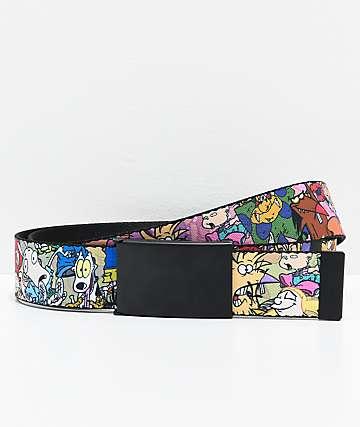 Buckle Down Nickelodeon Collage cinturón tejido