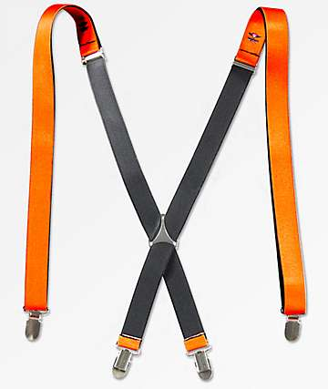Buckle Down Orange Suspenders