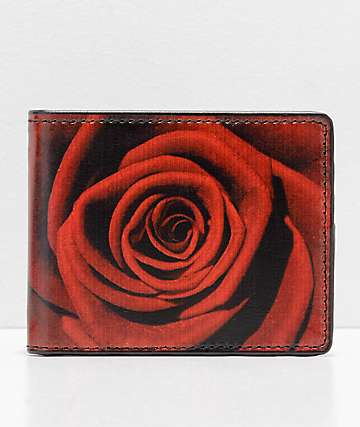 Buckle Down Rose Black Bifold Wallet