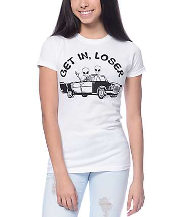 Burger And Friends Get In Loser White T-Shirt