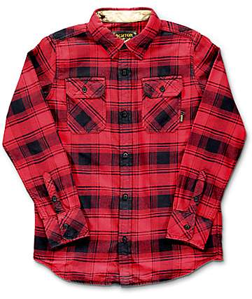 Burton Brighton Red Shadow Boys Flannel Shirt