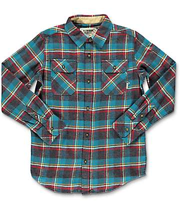 Burton Brighton Yolo Plaid Boys Flannel Shirt
