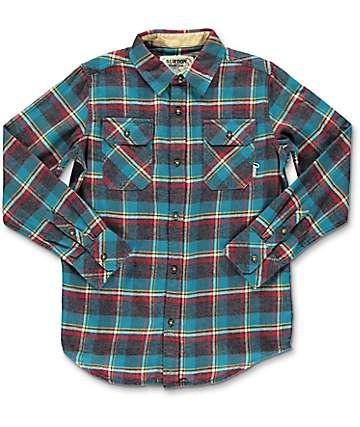Burton Brighton Yolo camisa de franela para niños