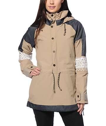 Burton Cinder Sandstruck Anorak 10K Snowboard Jacket