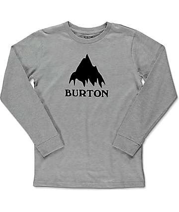 Burton Classic Mountain Heather Grey Boys Long Sleeve T-Shirt