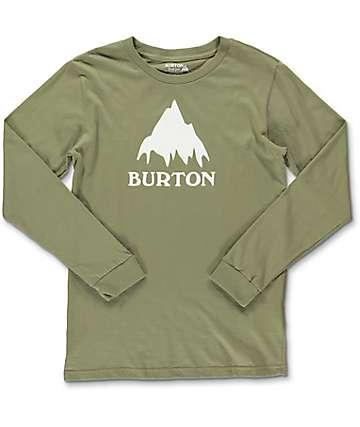 Burton Classic Mountain camiseta color olivo de manga larga para niños