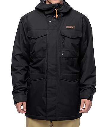 Burton Covert True Black 10K chaqueta negra de snowboard