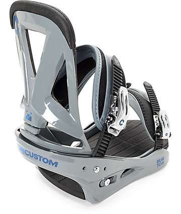 Burton Custom Grey Snowboard Bindings