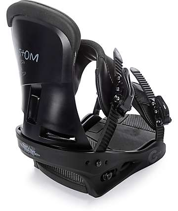 Burton Custom Matte Black Snowboard Bindings