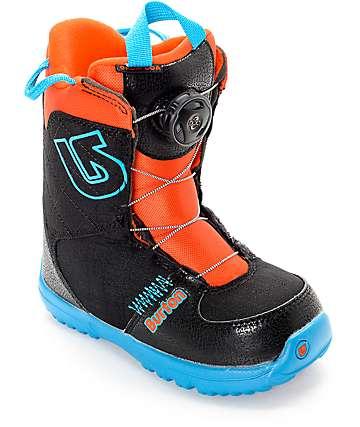 Burton Grom Boa botas de snowboard para niños en negro y azul