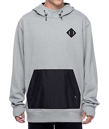 Burton Hemlock Heather Grey Bonded Hoodie