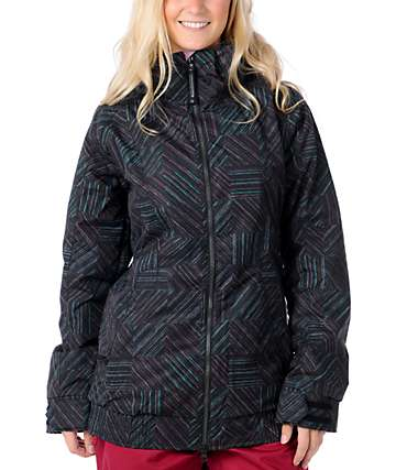 Burton Hot Tottie Black Checkered 10K Snowboard Jacket