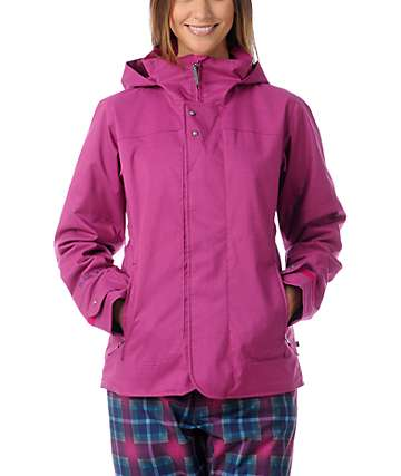 Burton Jet Set Pink Plaid 10K Snowboard Jacket