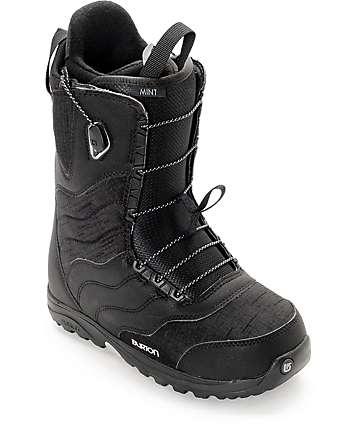 Burton Mint botas negras de snowboard para mujeres