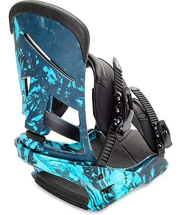 Burton Mission Re:Flex fijaciones de snowboard en estampado azul