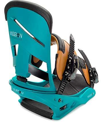 Burton Mission Real Recognize Re:Flex fijaciones de snowboard en verde azulado